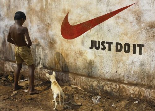 BANKSY - JUST DO IT canvas print - self adhesive poster - photo print